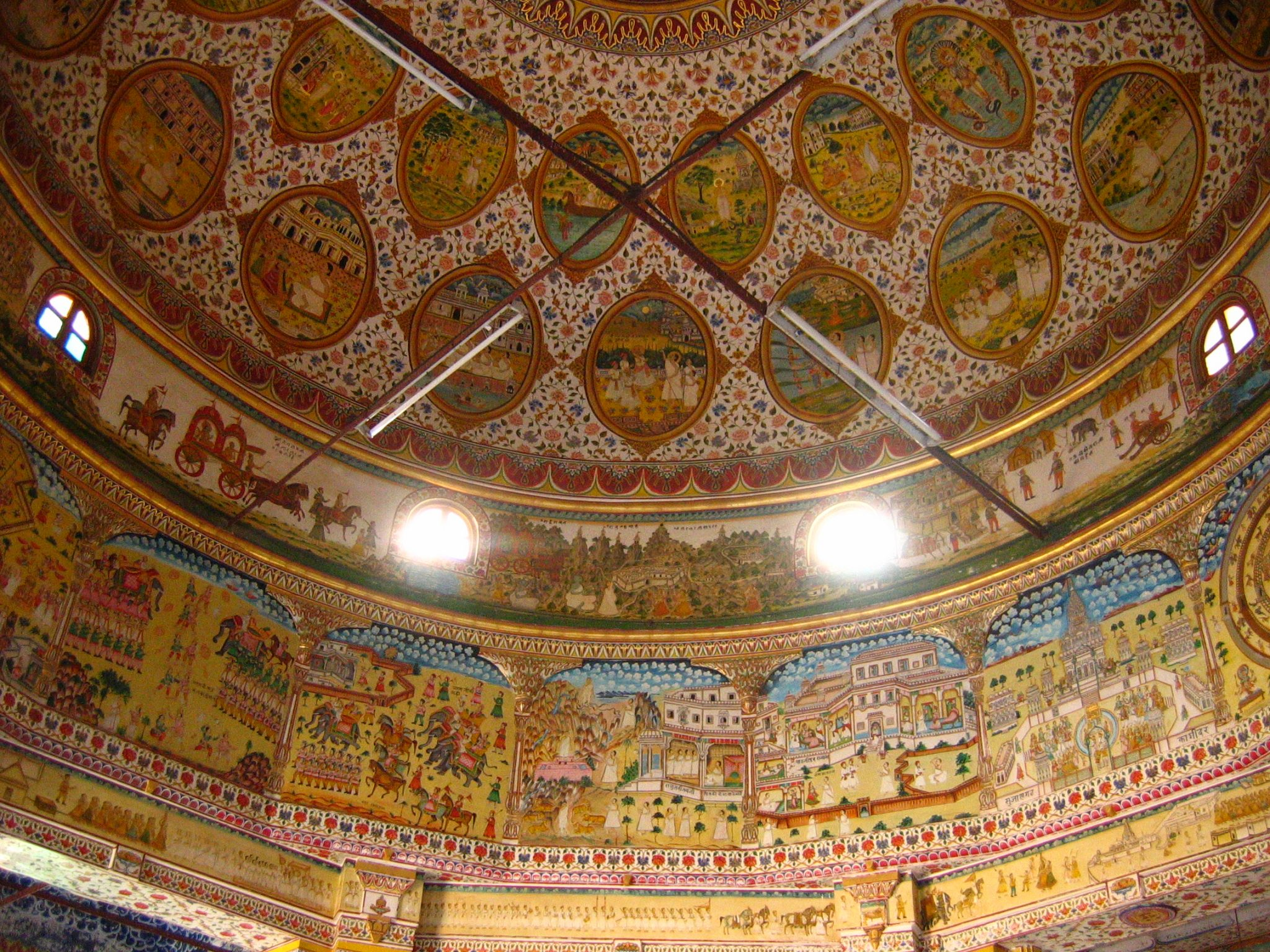 Inside of Jain Temple in Bikaner, Rajastan