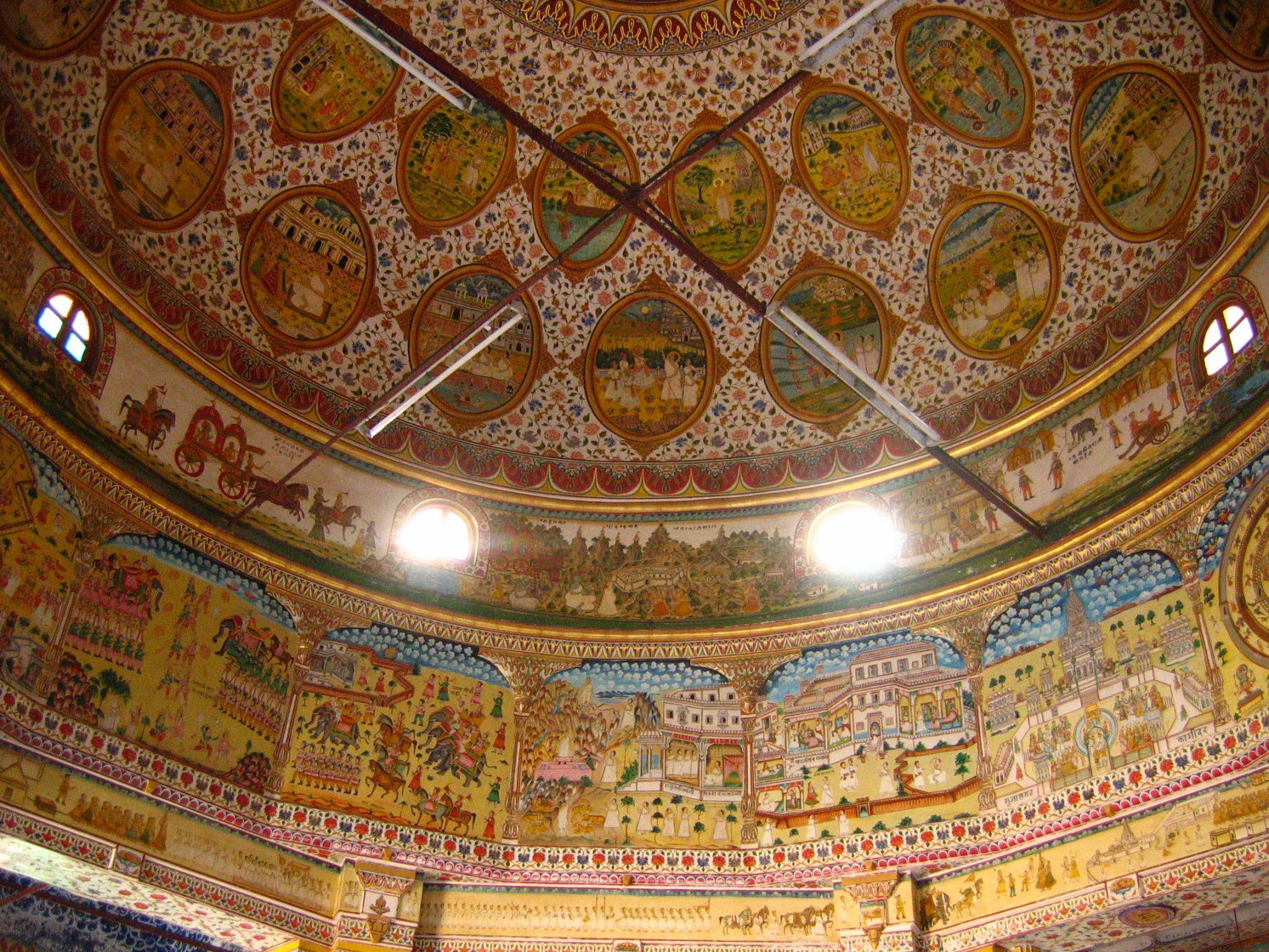 Inside of Jain Temple in Bikaner, Rajastan